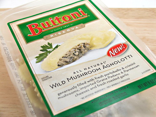 Wild Mushroom Agnolotti with Lemon Butter Sauce