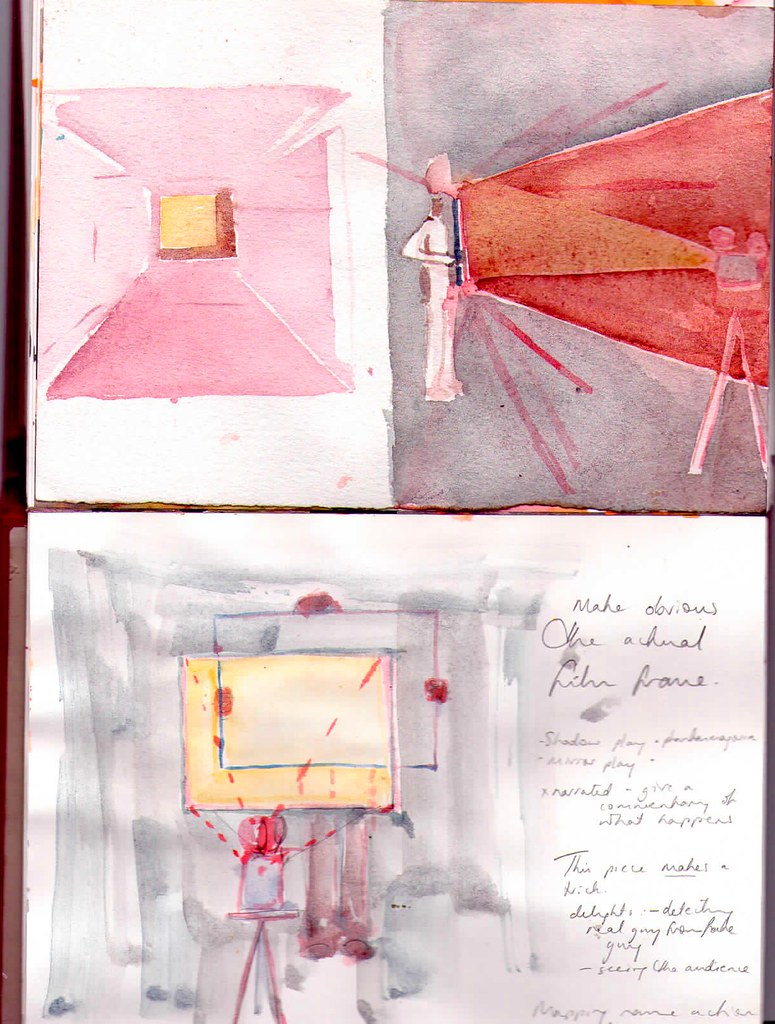 drawing 16 Feb 2009 illustration of 'framed' mirror