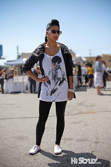 HiStyley l Melrose Trading Post  Street Style  #176 (HiStyley) Tags: california ca street city portrait people girl sunglasses fashion gold losangeles style tshirt prince flats 09 melrose hollywood april earrings 2009 streetfashion streetstyle melrosetradingpost histyley
