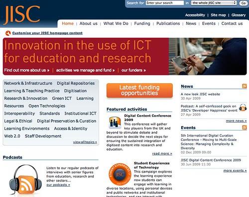 JISC home page