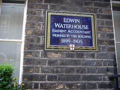 Photo of Edwin Waterhouse blue plaque