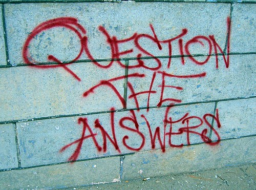 Question the Answers by walknboston, on Flickr