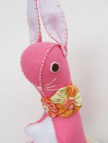 Pink felt bunny