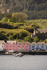 Row of  houses in Portree, Isle of Skye