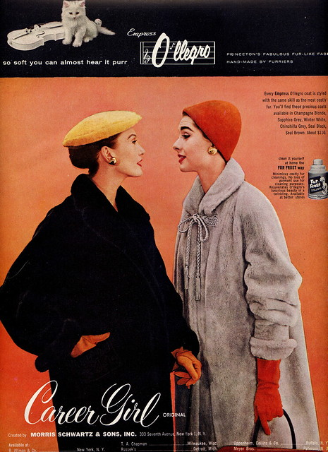 Vintage 1950s Coats Advertisement