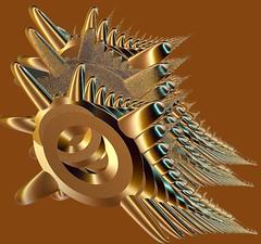 Bold n' Brassy (freetoglow (Gloria)) Tags: sensational fractal visualart hypothetical incendia wowiekazowie eyecandyart photoartwork thesuperbmasterpiece sharingart colourmania amazingeyecatcher