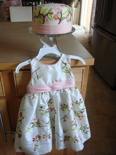 Matching birthday cake & dress