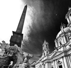 Angels & Demons BW (fabio c. favaloro) Tags: blackandwhite bw rome roma square nikon bn baroque bernini biancoenero d300 angelsdemons 1020sigma pzzanavona allrightsreserved artlegacy nikond300 fabiocfavaloro