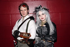White Mischief Journey to the Centre of the Earth (siberfi) Tags: london fashion club couple couples clubbing wm sp victoriana kingscross steampunk neovictorian lascala whitemischief journeytothecentreoftheearth