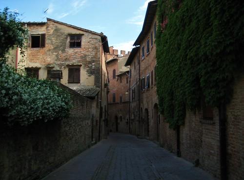 Deserted street in Certaldo