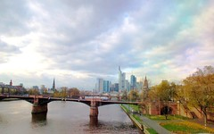 Frankfurt The City (janetfo747) Tags: city bridge sky water buildings river catchycolors germany frankfurt pastel main mainriver clck imagequality anycoloryoulike abigfave anawesomeshot blueribbonphotography flicksmileys theunforgettablepictures therubyawards theanthonygroup thewowgallery favoritenaturalcolorsandlights