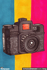 Wednesday Wallpaper 10 - iPhone (invisibleElement) Tags: desktop camera wallpaper wednesday sketch blog holga background free invisibleelement