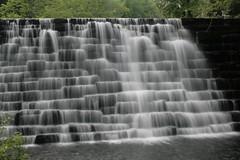 Otter Lake Spill over (MNesterpics) Tags: longexposure water virginia waterfall va slowshutter 2009 blueridgeparkway ottercreekpond