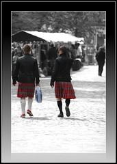 Kilties in the Grassmarket (FotoFling Scotland) Tags: red man male men fashion freedom scotland edinburgh kilt lads scottish event scot tartan kilted sporran scotsman selectivecolour kiltie highlanddress scotsmen edimburg freeballing kiltlad kiltedscotsman kiltedman tartankilt andaralogringo andarstrike