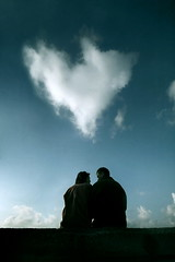 The Love Omen (Gilad Benari) Tags: blue sky cloud art love silhouette print poster israel telaviv couple different heart god expression silhouettes jaffa divine conceptual popular  cliche bestseller cloudshapes kitsh     cloudshape  symbl  heartshapedcloud   loveisrael   giladbenarichosen theloveomen israelilove loveinisrael