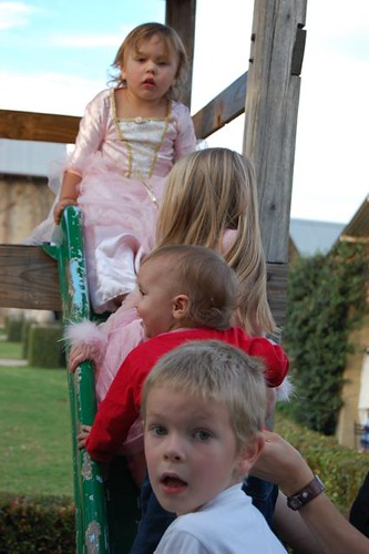 cousins on the slide