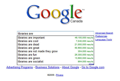 What Google thinks of libraries