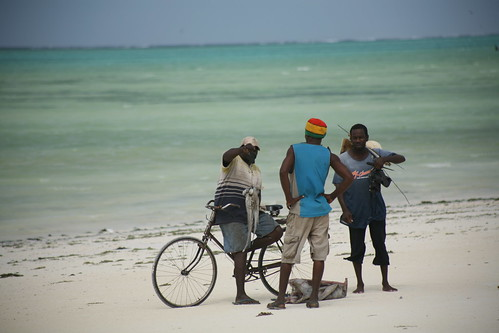 haggling on the beach