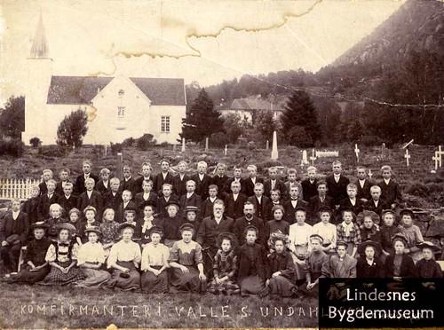 Konfirmanter i Valle 1909