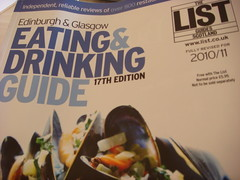 The List Eating & Drinking Guide 2010-2011 front cover