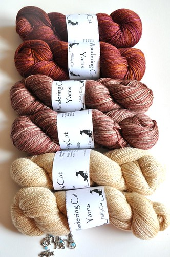 Wandering Cat Yarns-with stitch markers in memory of Biko-2