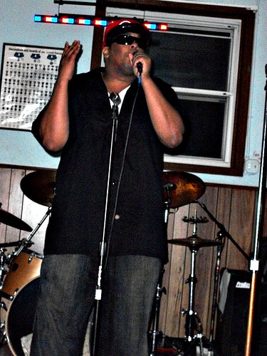 Kese Soprano rockin the mic at Tony Green's birthday bash
