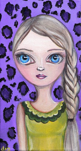 """Purple Leopard"" Original Painting"