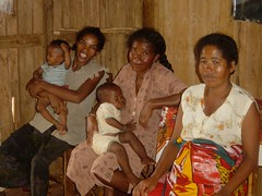 Radio listening group, Madagascar
