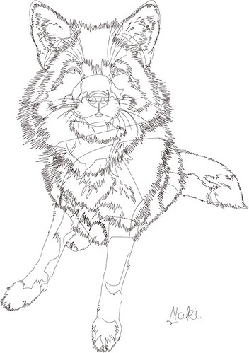 vector fox -lines