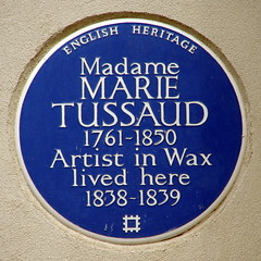 Photo of Marie Tussaud blue plaque