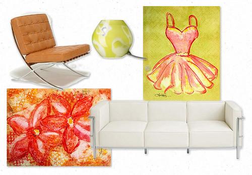 Color Inspiration ~ Pistachio and Orange