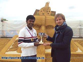 Moscow World sand Sculpture championship, Sudarsan Pattnaik