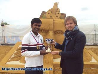 Moscow World sand Sculpture championship, Sudarsan Pattnaik