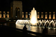 The World War II Memorial, no tripod (WilliamMarlow) Tags: world washingtondc dc nikon memorial war wwii creative commons cc worldwarii ii creativecommons nationalmall veterans worldwariimemorial nightdc d7000 nikond7000