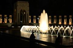 The World War II Memorial, no tripod (WilliamMarlow) Tags: world washingtondc dc nikon memorial war wwii creative commons cc worldwarii ii creativecommons nationalmall veterans worldwariimemorial nightdc d7000 nikond7000