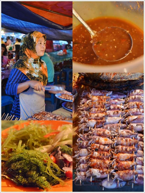 Seaweed, Sambal, Grilled Squids