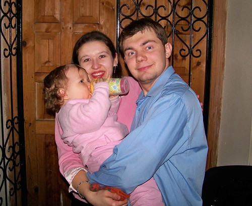 Zhanna, Vlad, and their daughter Anya