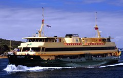 Collaroy, Freshwater Class Manly Ferry (gil278) Tags: travel blue color green public water sunshine yellow ferry boat interesting shine traffic harbour manly transport sydney floating sunny gloss lush catchy onthemove collaroy overcrowding