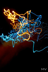 squiggles (miggyvee) Tags: abstract motion color colors nikon nightshot motioncapture slowshutter nightscene lighttrail lightpaint d80