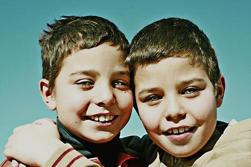 Smiling boys....