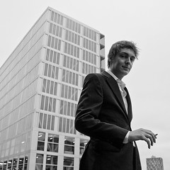 Jeroen (robster16) Tags: portrait people white black work advertising outdoors office cool moody grain smoking suit indoors agency trendy sigaret ara skyscrapper