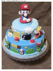 Super Mario Bros Cake / Bolo (Dragonfly Doces) Tags: game cake turtle nintendo super mario toad bolo bros luigi yoshi