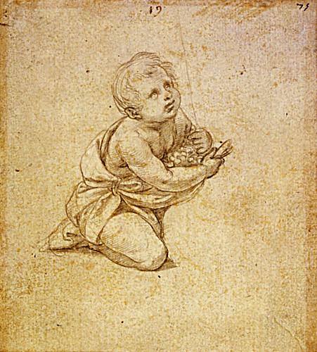 1511  Raphael    Study for the Alba Madonna  Metalpoint  11,5x10,5 cm  Rotterdam, Museum Boijmans van Beuningen