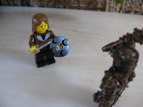 Boromir fights a Uruk Hai by pooheadbob.