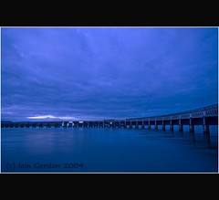 Tay Rail Bridge - Cool Blue - Dundee - Scotland (Magdalen Green Photography) Tags: longexposure scotland riverside dundee scottish tayside coolblue tayrailbridge coolcurves iaingordon picturesofdundee dundeephotography imagesofdundee dundeestockphotography printsofdundee