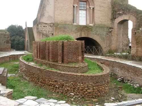 Fountain outside the Domus Flavia