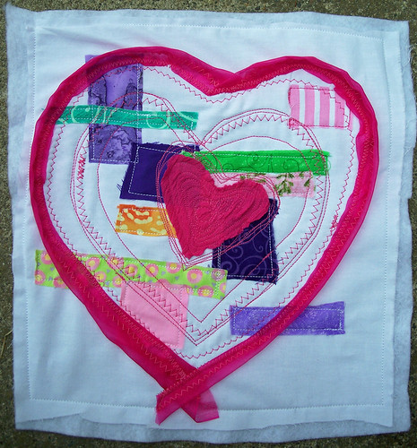 Heart with patchwork