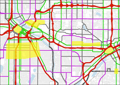 potentially eligible streets in the Twin Cities (image courtesy of CNU)