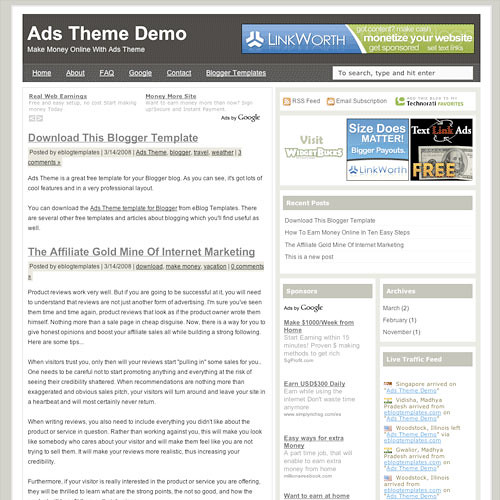 Ads Theme Blogspot