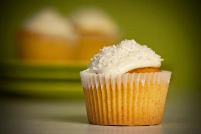 Rum Coconut Cupcakes